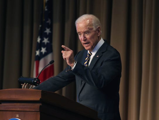The Honorable Joe Biden, former Vice President of the