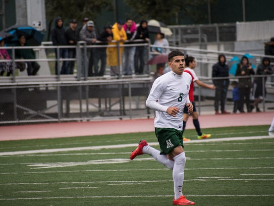 Junior forward Angel Amezcua continued his hot streak