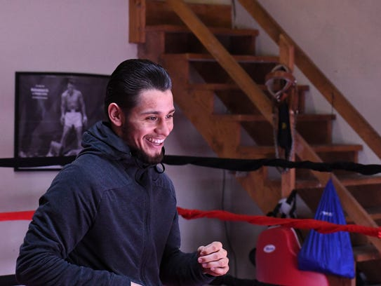 Ruben Villa cracks a smile during training for his