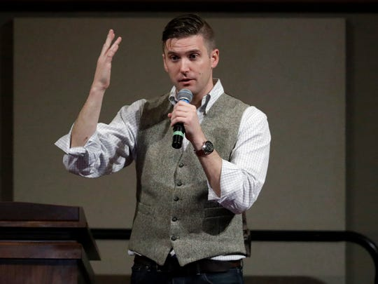 In this Dec. 6, 2016 file photo, Richard Spencer speaks