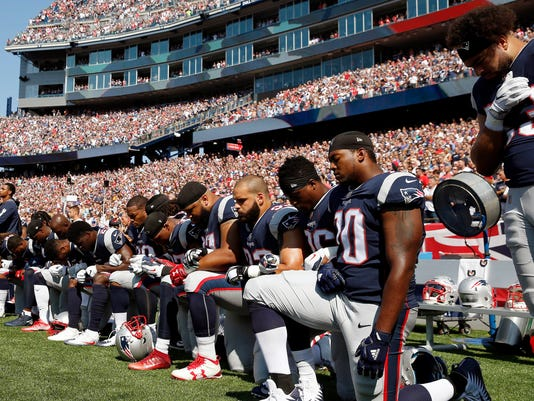 AP PATRIOTS PROTEST FOOTBALL S FBN A USA MA