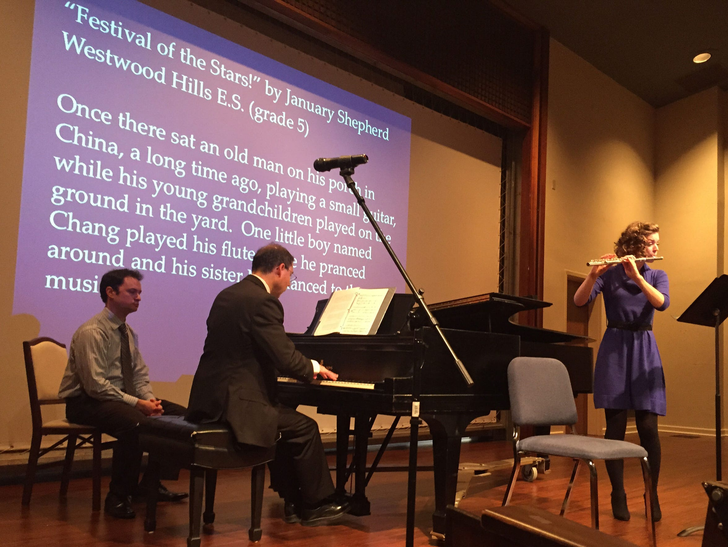 Ryan Hoffman on cello, Luis Gonzales on piano and Clara