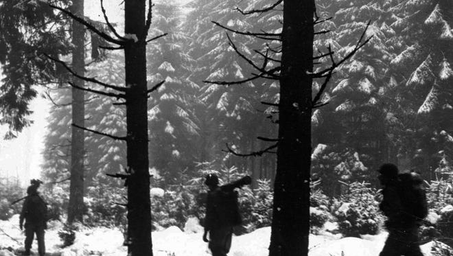 U.S. troops during the Battle of the Bulge, December 1944.