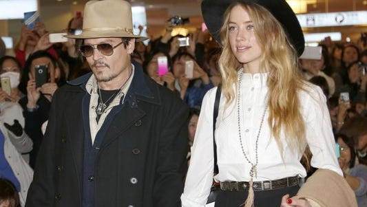 Johnny Depp and wife Amber Heard.