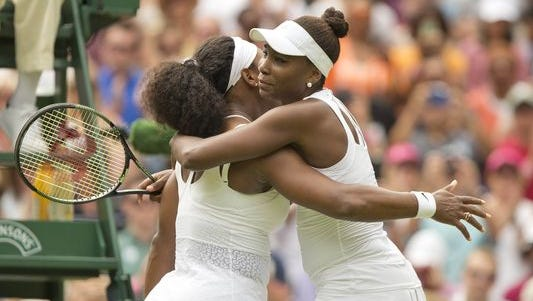 Serena Williams defeats sister  Venus in their 26th head-to-head meeting.