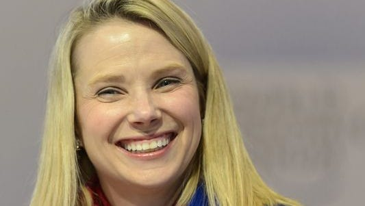 Yahoo CEO Marissa Mayer on Jan. 22, 2014 during a panel session of the 45th Annual Meeting of the World Economic Forum (WEF) in Davos, Switzerland.