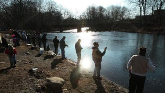Daily Record file photo In April 2014, anglers fish on the Rockaway River on the opening day of trout season. Anglers fish on the Rockaway River for trout on the opening day of trout season. April 5, 2014, Rockaway, NJ.