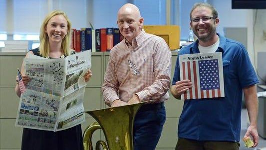 Dana Ferguson, Patrick Lalley and Jonathan Ellis