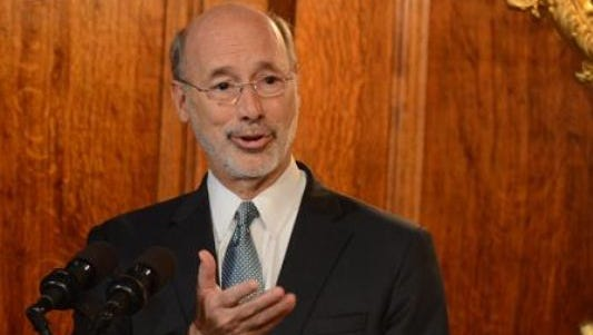 Gov. Tom Wolf got a standing ovation from lawmakers after his address Wednesday.