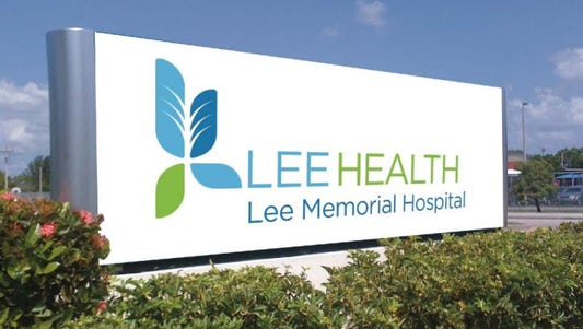 The new blue and green logo for Lee Health were unveiled outside hospitals on Wednesday, Oct. 4.