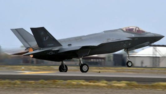 An F-35 Lightning II prepares to take off June 10, 2016, at Luke Air Force Base in Glendale. The F-35 Lightning II is the most advanced fighter aircraft ever fielded, and is being adopted internationally by the United States and eight partner nations, including Norway, Italy and Australia.