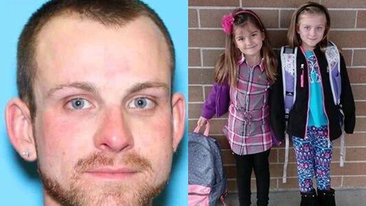 Left: Joshua Dundon, 29. Right: Jaylynn, 6, and Madison, 7.
