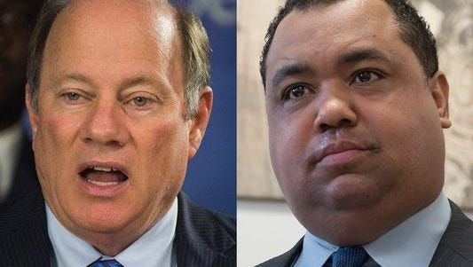 On Sunday, two days before Detroiterschoose the city's mayor at the polls, the incumbent Mike Duggan and his challenger state Sen. Coleman Young II, both chose friendly audiencesto make closing arguments for why they should be mayor.