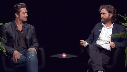 'Bradley Pitts' sits down with Zach Galifianakis' on 'Between Two Ferns.'