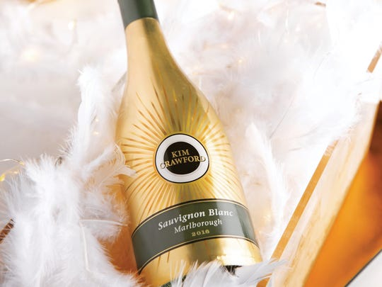 Kim Crawford's first limited-edition bottle fits the bill for holiday toasting. Dressed in gold, the No. 1 selling Sauvignon Blanc in the U.S. goes for less than $20 a bottle.