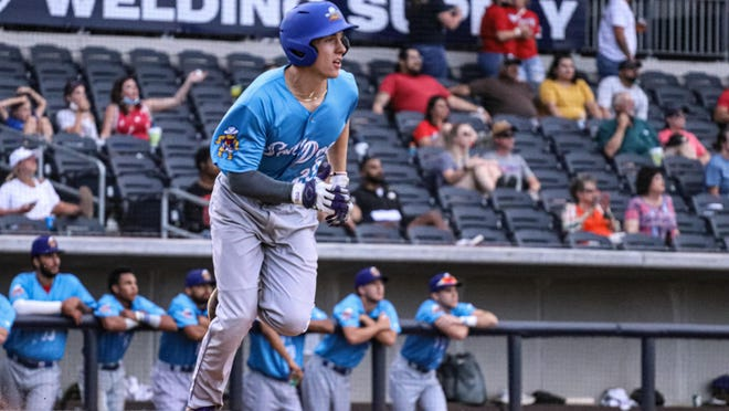 Amarillo High graduate Rhett Maynard has hit two home runs this season in the Texas Collegiate League for the Amarillo Sod Dogs, who will continue a nine-game home stand at Hodgetown this evening by opening a three-game series against Texarkana.