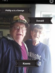 Donald, right, and his brother George, who is also