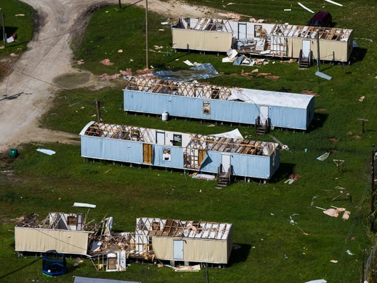 A view of home destruction in Immokalee on Saturday, Sept. 16, 2017, six days after Hurricane Irma.