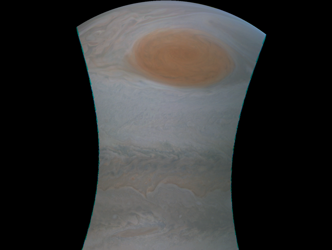 NASA released this raw image taken by the Juno spacecraft