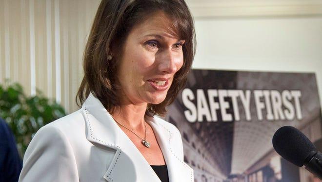 National Safety Council President Deborah Hersman speaks in Hyattsville, Md., July 16, 2012.