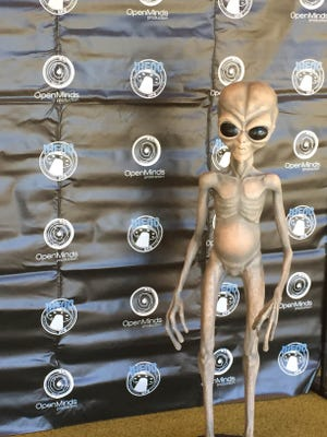 Images and recollections of extraterrestrials with large dark eyes are common at the UFO Congress near Phoenix.