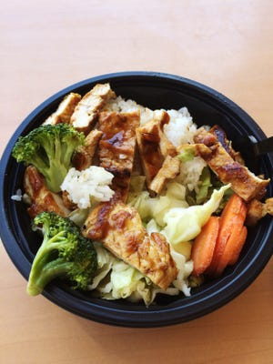 Half-half bowl from WaBa Grill on Ramon Road in Palm Springs