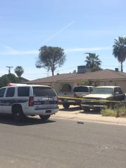 Phoenix police and fire units responded to a house