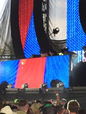 Peking Duk performs at Coachella on Friday.