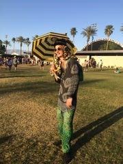 Fun outfits seen at Coachella Valley Music and Arts Festival.