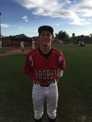 Chris Ashton after shutting out Chaparral over seven innings on Friday, April 17, 2015.