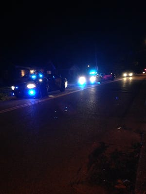 Four vehicles involved in two separate accidents blocked part of the intersection of West Forest Avenue and Prospect Avenue