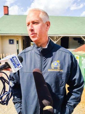 Trainer Todd Pletcher arrived Tuesday to Churchill Downs.