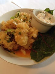 Cauliflower tempura at Saint Street Inn.