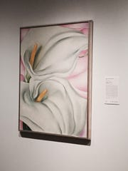 Georgia O'Keeffe's 1928 painting 'Two Calla Lillies on Pink' will be among the works on display in Haddonfield.
