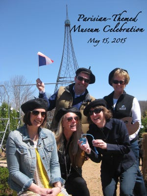 Members of the Young at Heart decorations committee channel their Parisian-side in preparation for the Children's Museum of Fond du Lac's annual Young at Heart gala. Left to Right, (back row) Michael Beeck, Melissa Hierl, (front row) Andrea Nuss, Alysia Hopper and Brenda Grass.