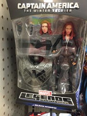 This is the lone Black Widow action figure Kate Kompas found during her check at a Wal-Mart, a Target and a Shopko in the area. (This was at Shopko.)