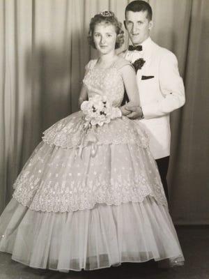 The winning photo: Carol Esham (Quinn) and Charles Quinn Jr. at the 1960  Audubon  High prom.