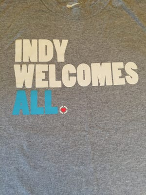 T-shirts like this one were printed in response to the state's Religious Freedom Restoration Act debate.