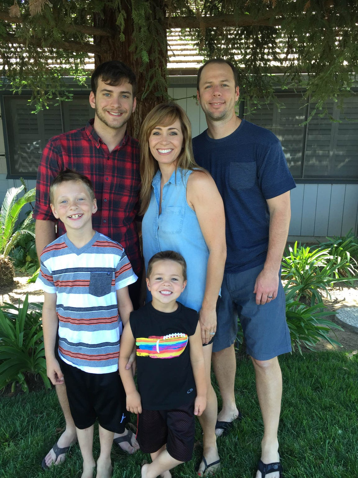The Jefferson family from Visalia: Nathan (right) and