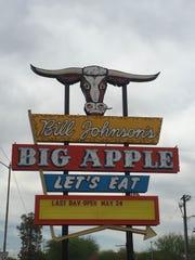 The Bill Johnson's Big Apple restaurant at 3757 E. Van Buren St. in Phoenix shut its doors for good Sunday, May 24, 2015.
