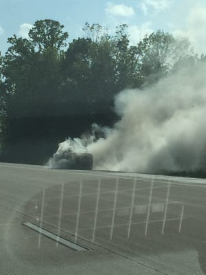 Authorities responded to a report of a vehicle on fire, shortly after 4:45 p.m. May 26, 2015, on Interstate 41, just south of County Trunk GG in the Winnebago County town of Vinland.