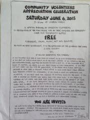 Invitation to the June 6 celebration at American Flatbread in Waitsfield. The business turns 30 this year.