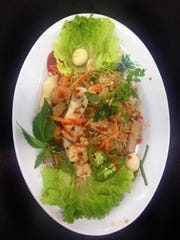 Chef Tommy Le's House Special-- a pad thai dish mixed with seafood, pork and more.