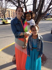 Amber, Daylea, 3, and Jaylin, 7, Herring of Tiffin