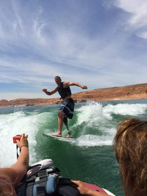 Steve Osborne, 41, of Mesa, has maintained an active lifestyle despite a motorboating accident that cost him a leg at age 14.