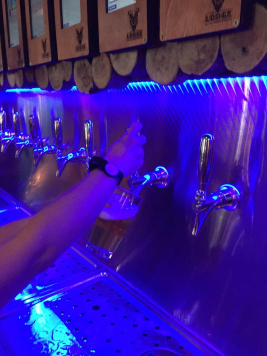 pouring from the beer wall