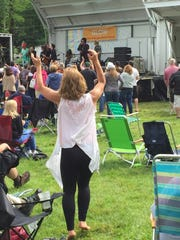 The crowd got up and danced when Joe D'Urso was joined on stage by Willie Nile, James Maddock and others during the Rockland-Bergen Music Festival in Tappan.