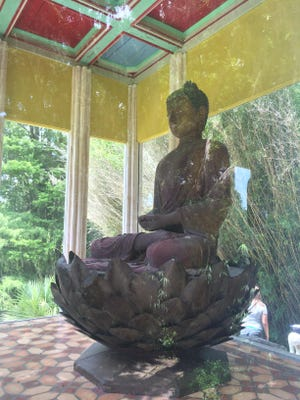 Located in the Jungle Gardens on Avery Island, the Buddha's Pavilion offers a tranquil beacon to sit and reflect.