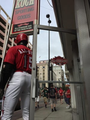 For the iconic Koch Sporting Goods on Fourth Street, All-Star Week brings a rush of customers.