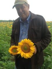 Burlington County farmer Jim Durr supplies Whole Foods with sunflowers for its stores in New Jersey, New York and Western Connecticut.